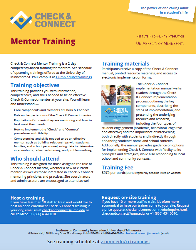 Mentor Training   Check & Connect Student Engagement
